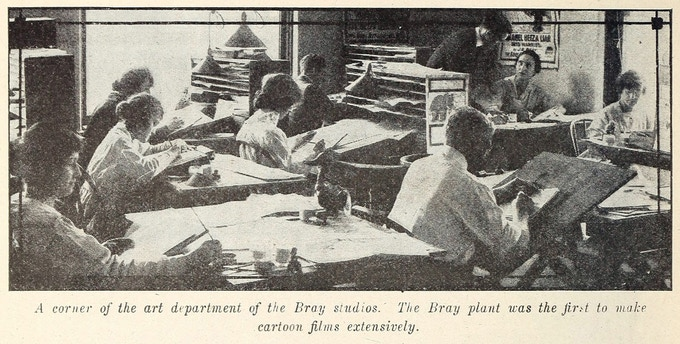 A rare interior view of the Bray Studios
