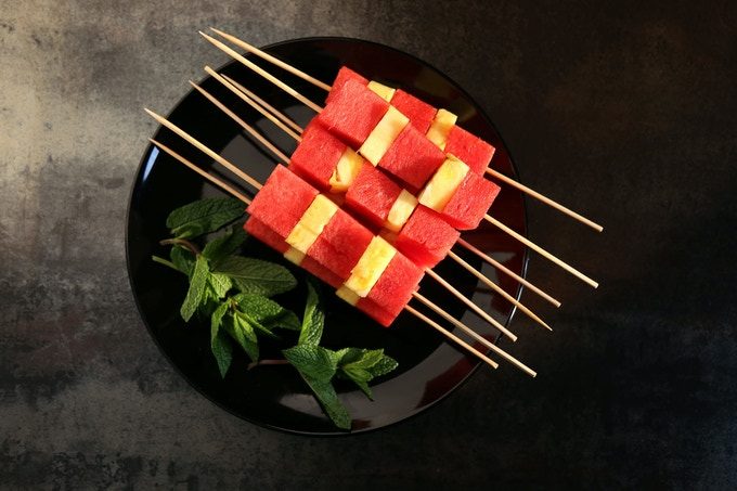 Melon & ananas skewer