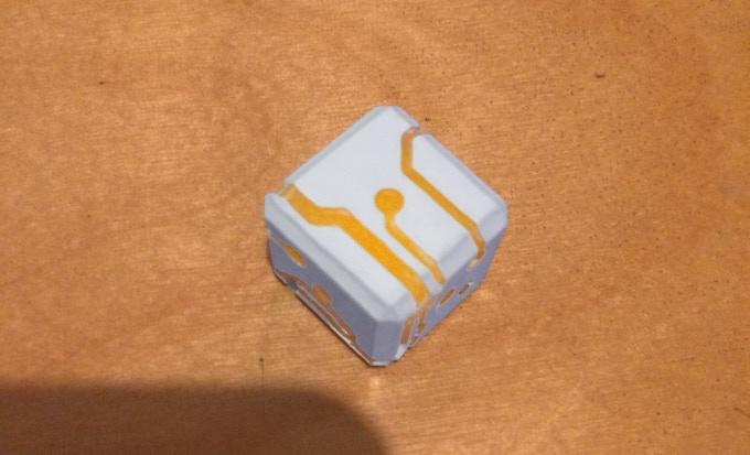 Orange Glow White Finish