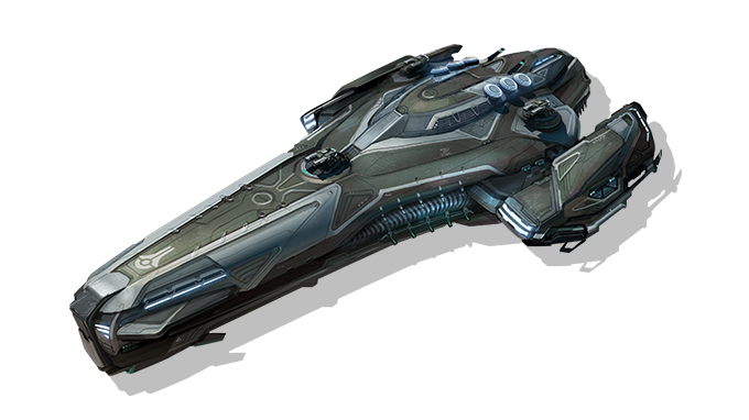Concept art for a gunship.