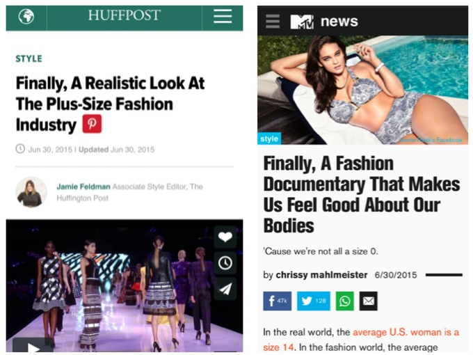 The Huffington Post and MTV News adding to the buzz around Straight/Curve