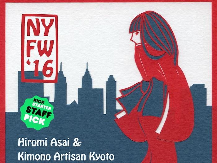 Kimono artisans and stylist bring real Kimono on runway to New York Fashion Week for saving artisans and the art of Kimono creation