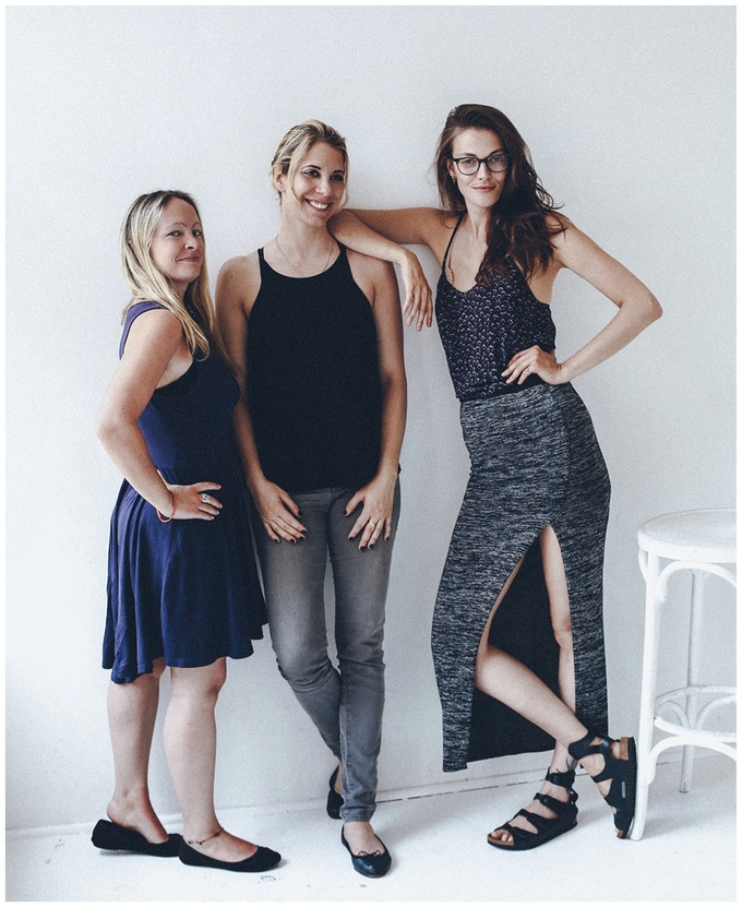 L-R: Director Jenny McQuaile, Producer Franses Simonovich, Producer Jess Lewis.