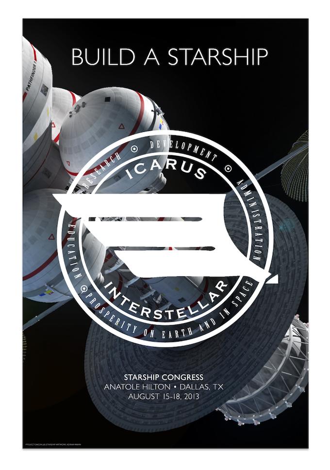 """BUILD A STARSHIP"" — Starship Congress 2013 poster [featuring art of Adrian Mann]"