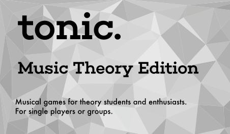 Theory-intensive games based on common and not-so-common harmonic, melodic, and structural concepts. For advanced musicians.