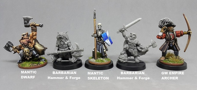 Hammer and Forge compared to GW and MANTIC for scale purposes