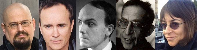 Many guests are already confirmed! Here are just a few (L to R): Charles Stross, Jeffrey Combs, Leeman Kessler, Richard Lupoff, Molly Tanzer. Check our web site for the full in-progress list.