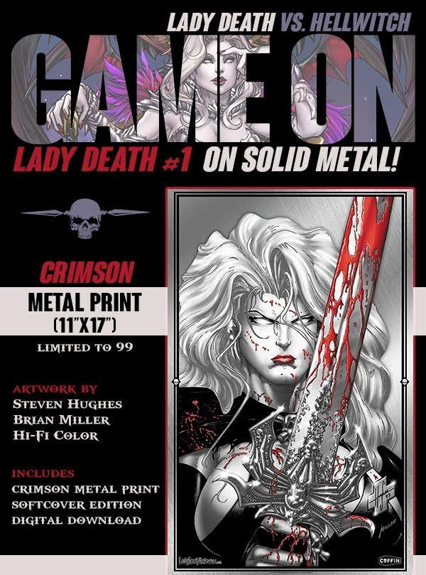 LADY DEATH #1 CRIMSON METAL PRINT ($77 PLEDGE)