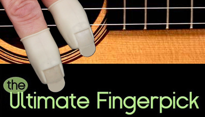 The Ultimate Fingerpick will totally improve a musician's technique, by remaining firmly in place, allowing downstroke & upstroke!