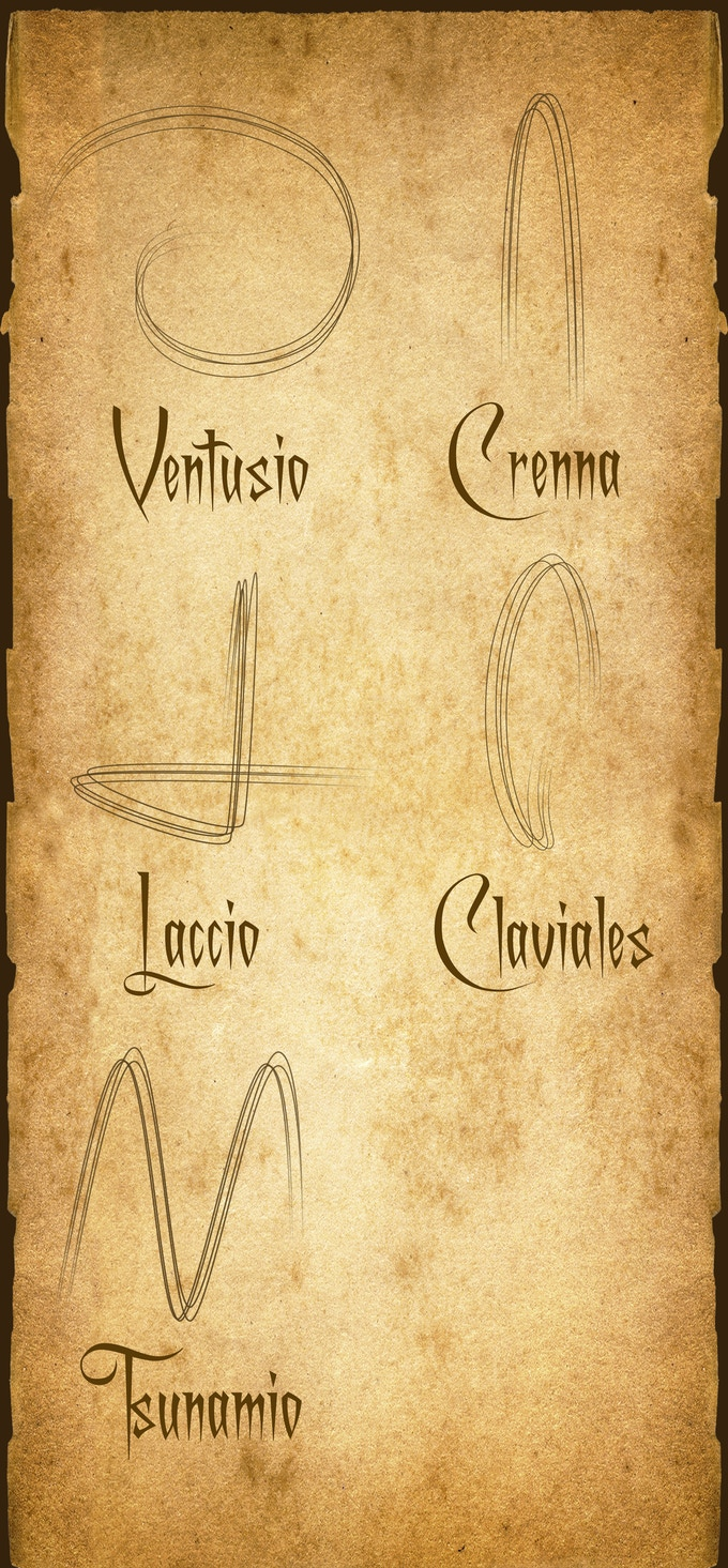 A page from the book of spells. One of the many to come.