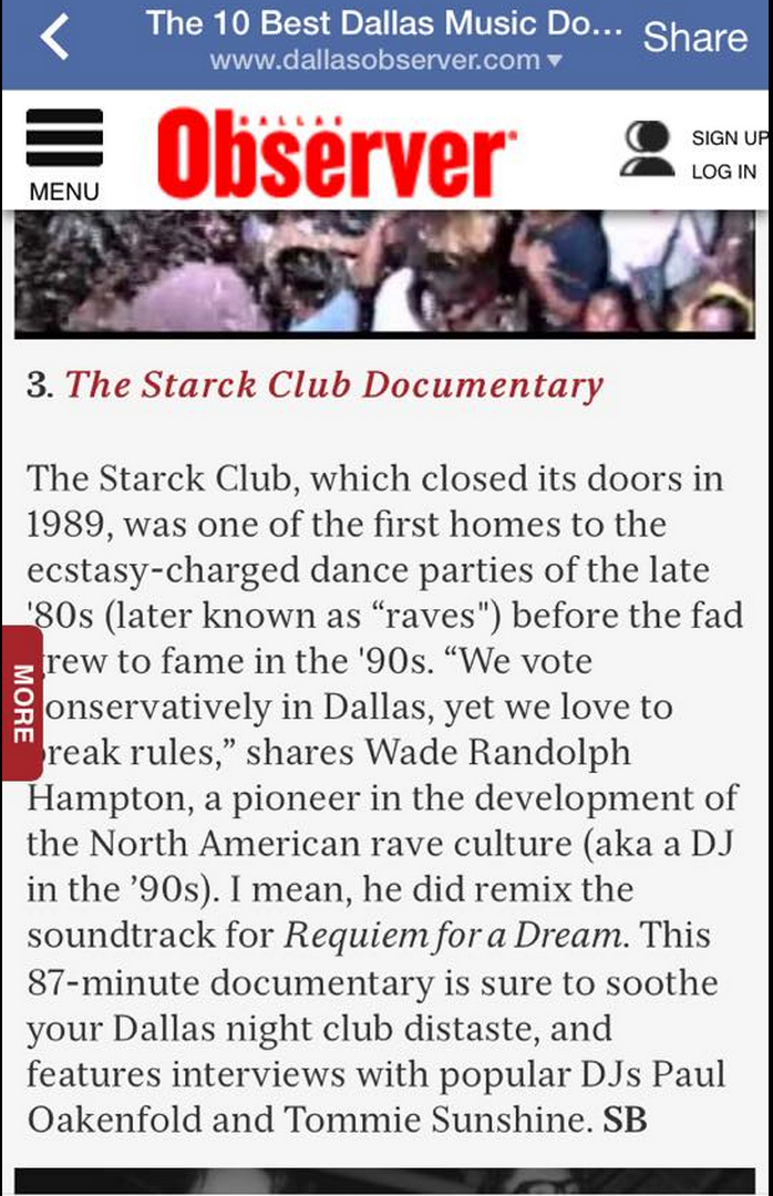 Finishing Funds for the STARCK PROJECT Music Rights by