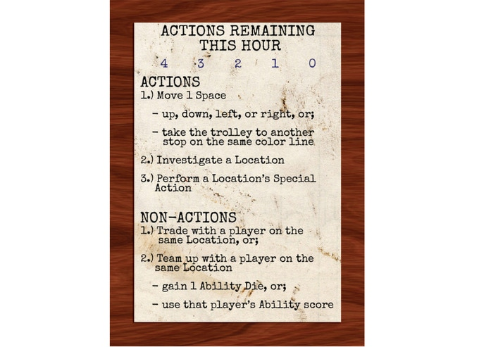The player reference card