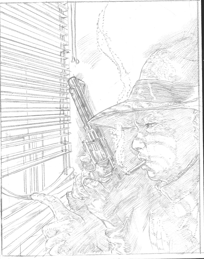 The pencils for Squad Member James Robertson