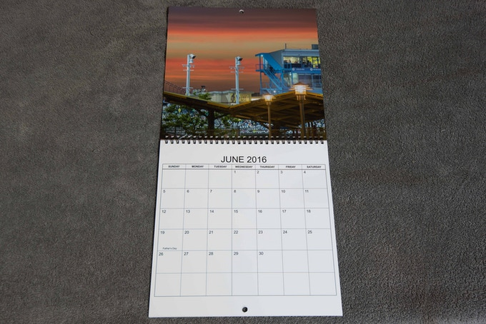 Test Proof Calendar, Open