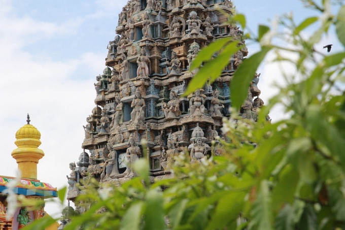 Towering Temple in Trincomalee, Sri Lanka