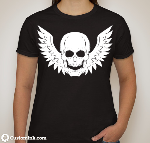 Rock this sky pirate T-shirt for backing us at the $20 level!