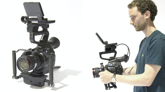 LOKI with the Canon C300 and Cage Bar Module attachment