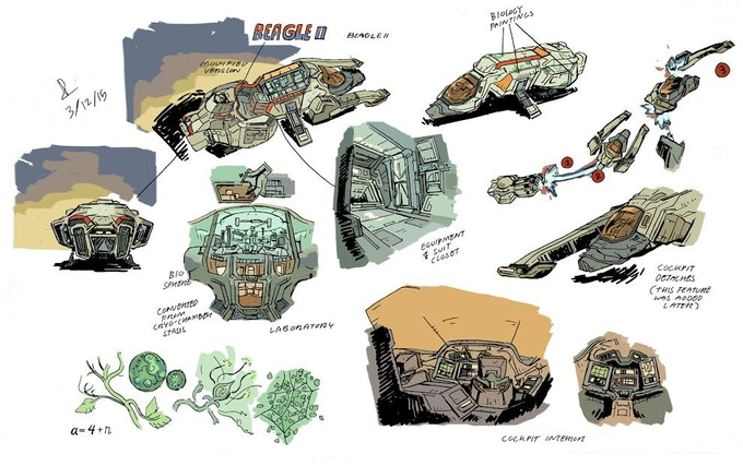 The Beagle II, the ship that took us to Titan.