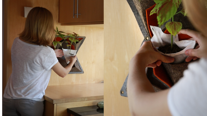 Worried about spilling dirt? Fill the provided inserts with soil and a plant of your choosing over the sink to keep tidy!