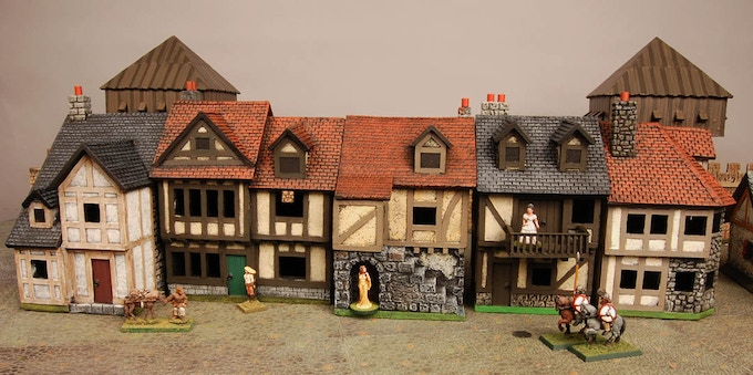 Figures and wagons not included with buildings