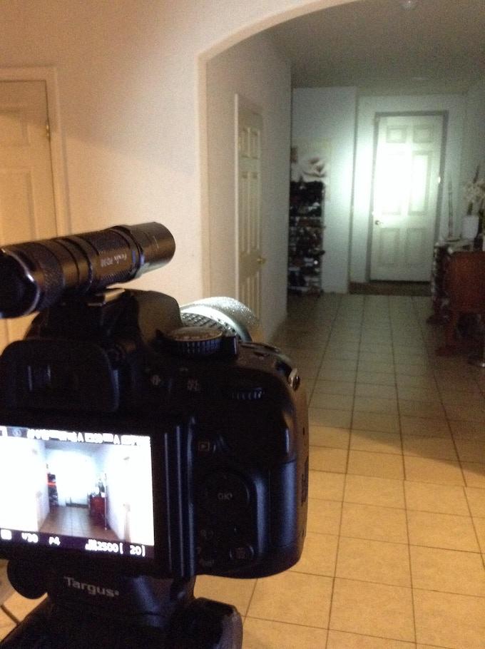 Beam shots: Fenix PD30 on camera