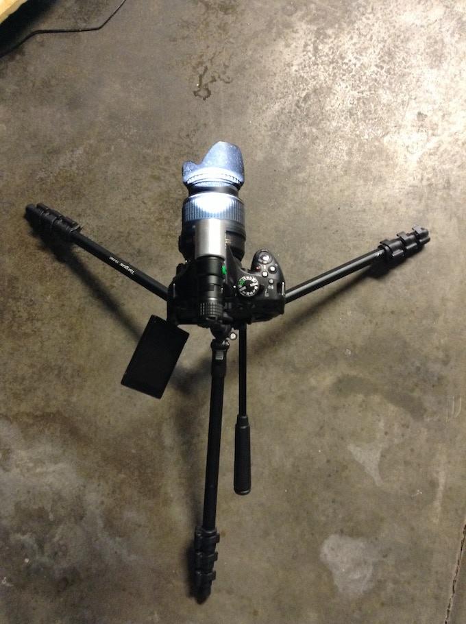 JR-X1 on hot shoe camera mount