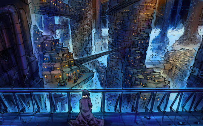Concept Art of the City of Echo Tokyo