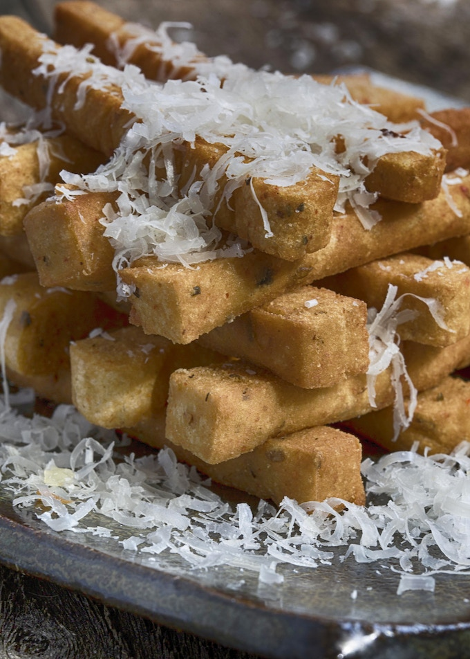 Panisses: Chickpea French Fries dusted with Parmesan Reggiano