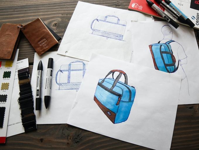 Design Process. Discuss needs, draw a ton, prototype, test, draw more, prototype more, test more, obsess.