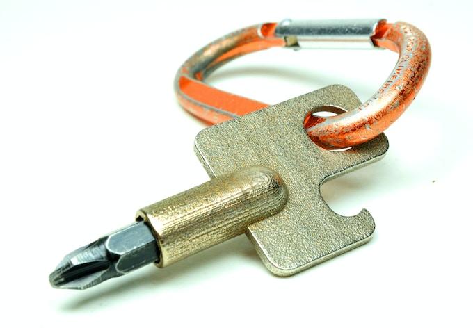 Screwdriver - MINI: carabiner clip