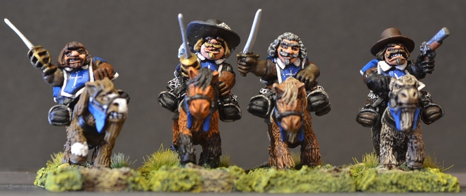 Mounted Dwarf Musketeers Figure Pack MDM1C