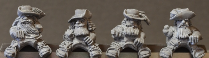 Mounted Dwarf Musketeers Figure Pack MDM2
