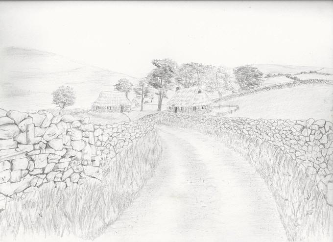 Conceptual Drawing of farmland