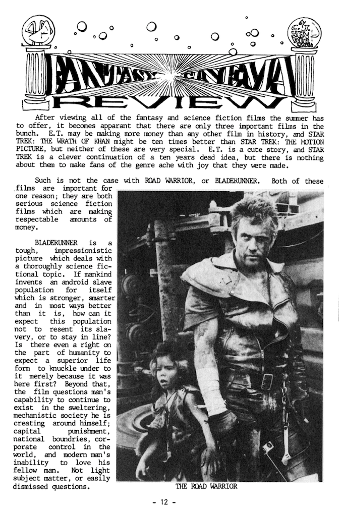 Also reviews of games, books, and films from 1982-3.
