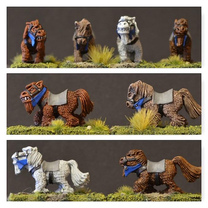 DMP1 Mounted Dwarf Musketeer Ponies