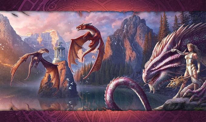 """Draco Magi Box Art (14""""X24"""")"""