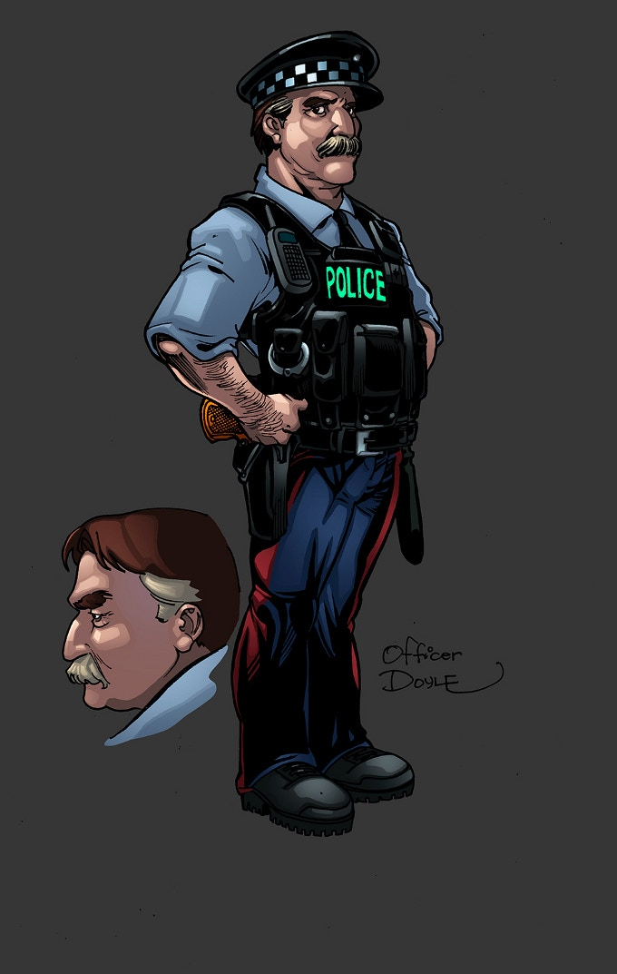 ...and ended up with characters like Officer Doyle.