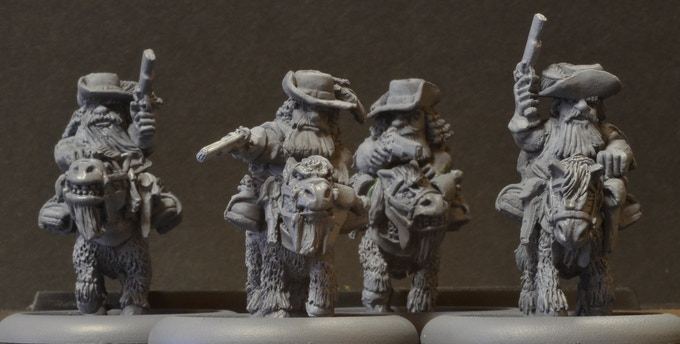 MDM2 Mounted Dwarf Musketeers $42.50. Riders match set DM2.