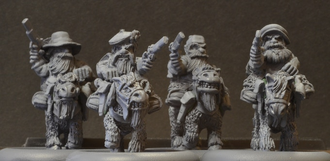 MDM3 Mounted Dwarf Musketeers $42.50. Riders match set DM3.