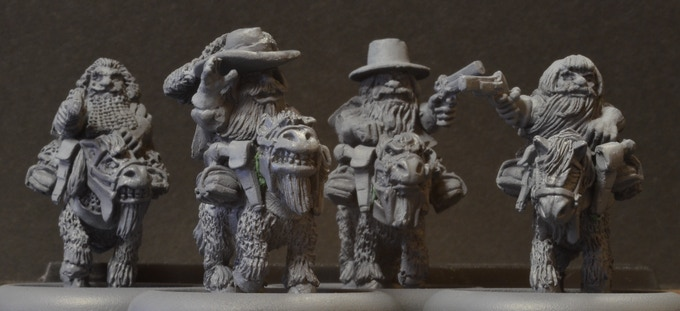 MDM4 Mounted Dwarf Musketeers $42.50. Riders match set DM4.