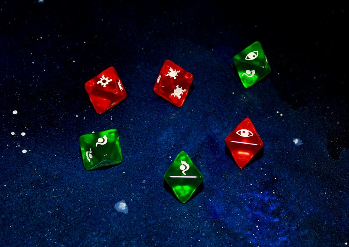 The wait is over, introducing high quality transparent dice for your most favorite Game. Bringing the best to your galaxy far far away.