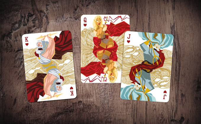 MYTHICAL / collectible playing cards / 2-week campaign by