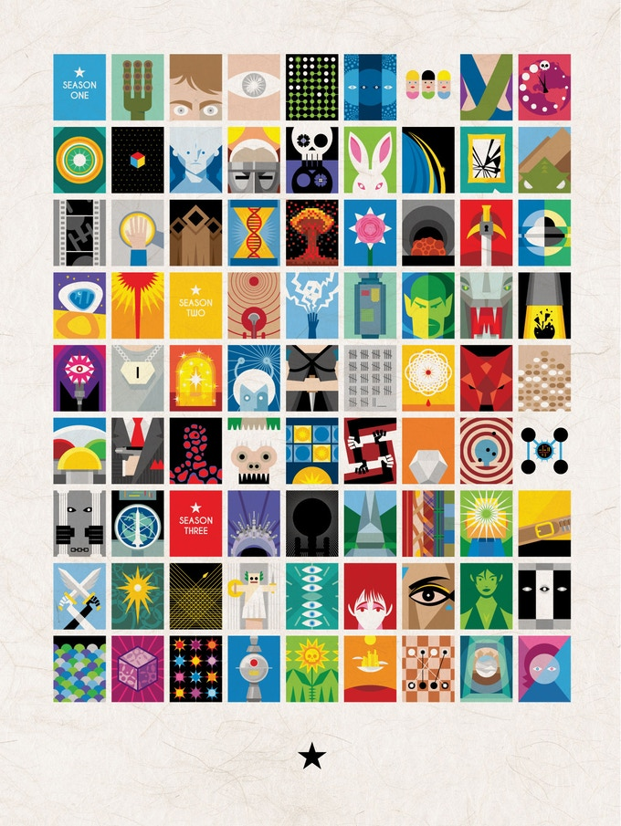 """Limited Edition of 100. Signed & Numbered """"The Complete Series"""" poster."""