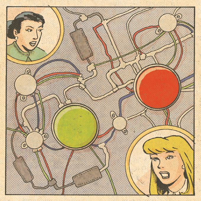 """Unlettered panel from """"Fianchetto's Gambit!"""" written by Charley Macorn, art by Michael R. Hall, colors by Frank Barbara."""