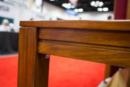 The legs of the Carolina Game Table are squared off for stability and for a clean, classic style.