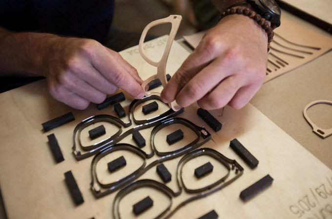 Steel Rule Dies for die-cutting the leather frame layers