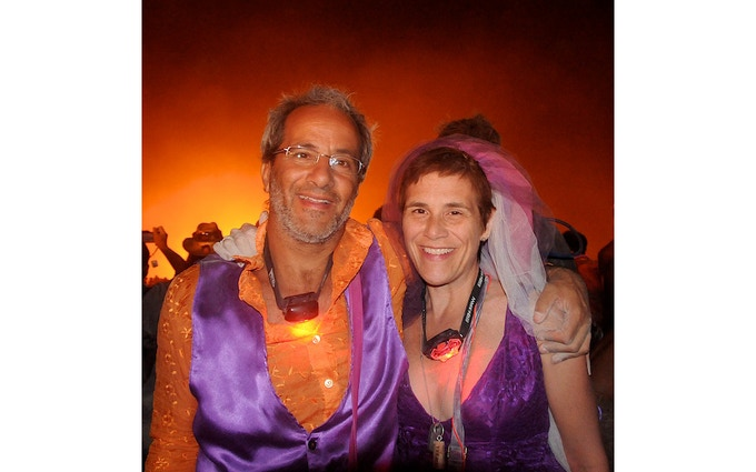 Peter and Gretchen Married on Playa in 2010.