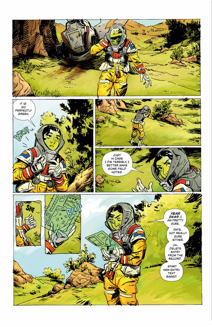 ATGR #1, page 10. Amazing color work by Michael Sheppard