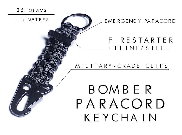 Firestarter Paracord Bracelet / Keychain | Survival Gear