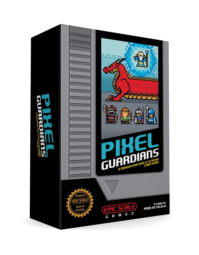 A fast paced 8 bit style dragon building & slaying card game!  Outwit other players to collect the most points & win!